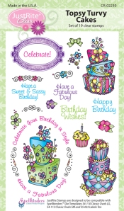 Just Rite Topsy Turvy Cake Cling Stamps
